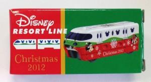 TDR限定トミカ リゾートライン クリスマス 画像トミカ2012年ver.